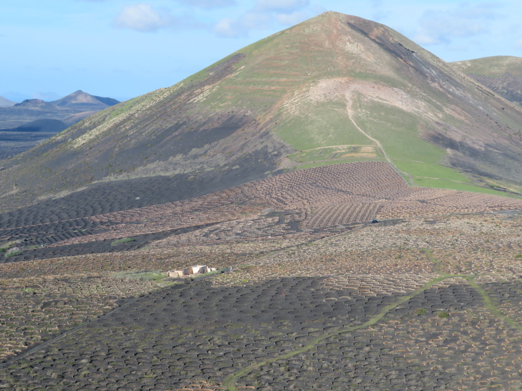 Spain Canary Islands: Lanzarote, La Geria; Montana Tinasoria , Guardilama from Tinasoria, Walkopedia