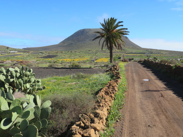 Spain Canary Islands: Lanzarote, Maguez Area  , Track towards Corona, Walkopedia