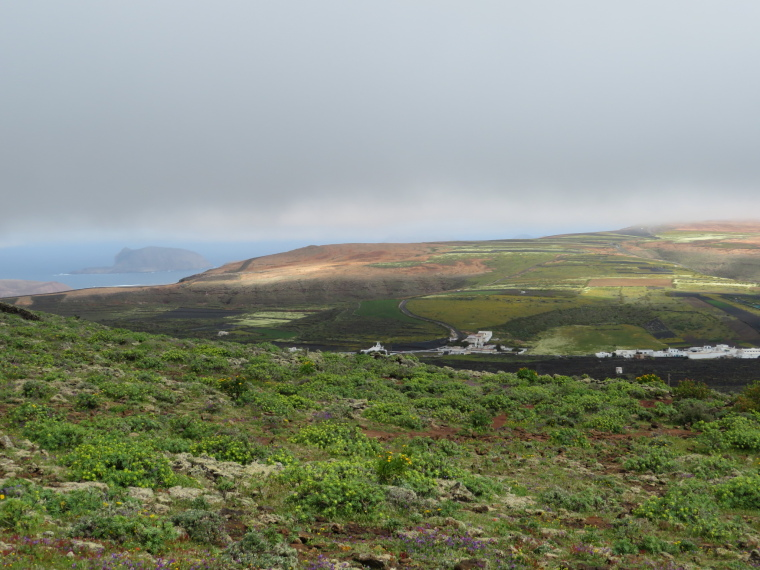 Spain Canary Islands: Lanzarote, Maguez Area  , Looking north from Corona flank, Walkopedia