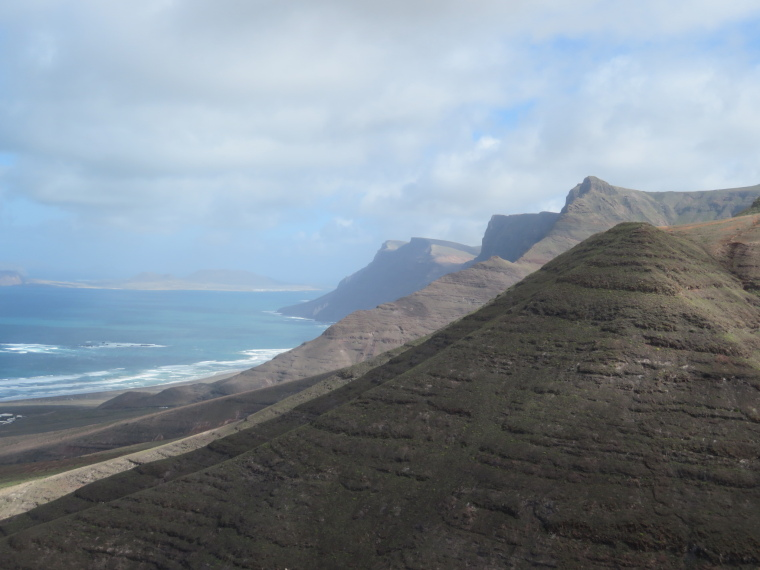 North along Risco de famara cliffs - © William Mackesy
