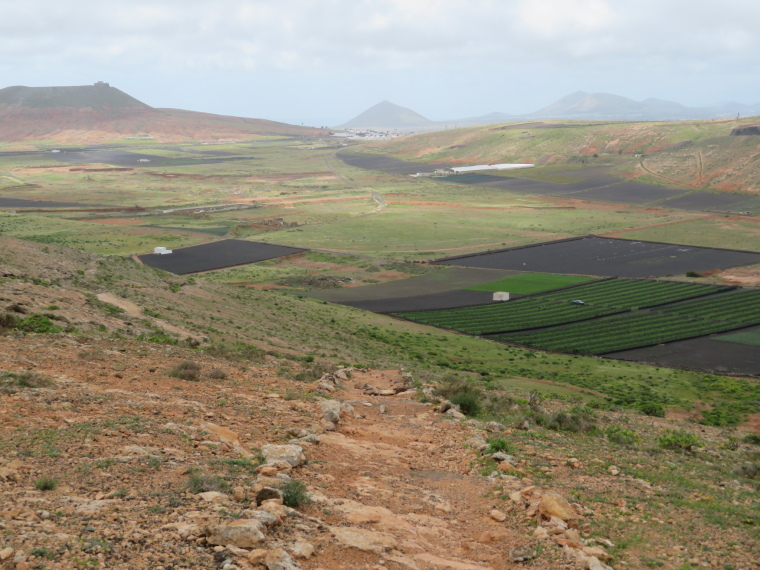 High ridge edge, south towards Teguise - © William Mackesy