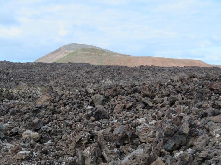 Spain Canary Islands: Lanzarote, Caldera Blanca , The calderas from the start of the walk, Walkopedia