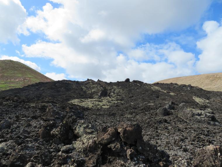 Spain Canary Islands: Lanzarote, Caldera Blanca , Lava cascade, Walkopedia