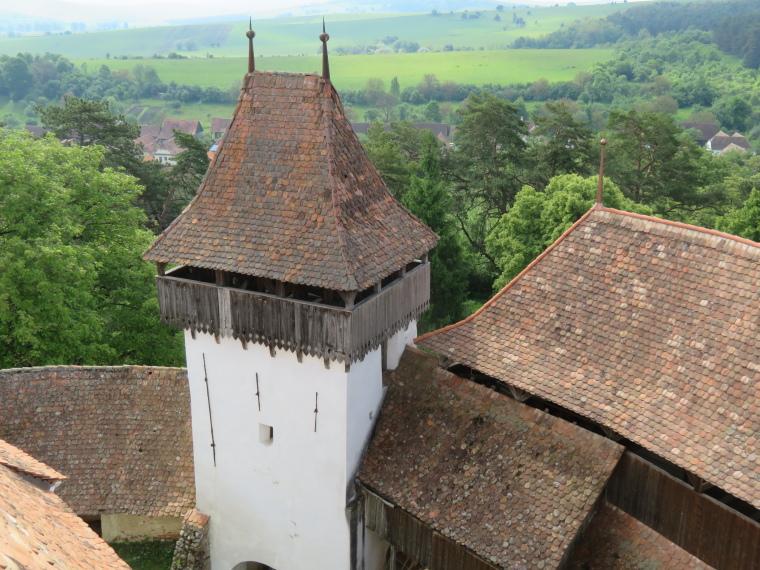 Romania Transylvania, Transylvania, from Viscri church, Walkopedia