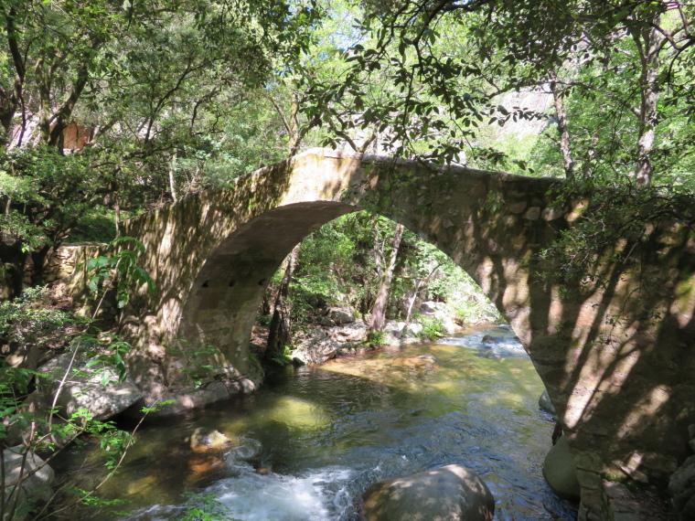 Spelunca Gorge: Zaglia bridge deep in gorge - © William Mackesy