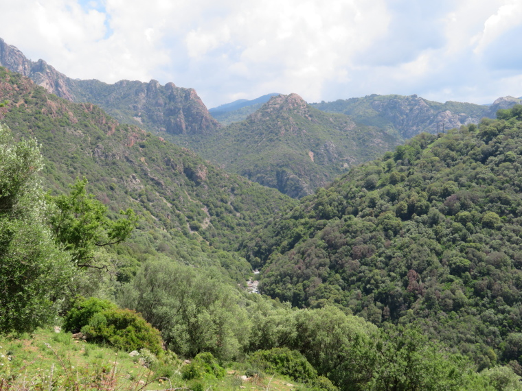 Spelunca Gorge:  back up gorge from near Ota - © William Mackesy