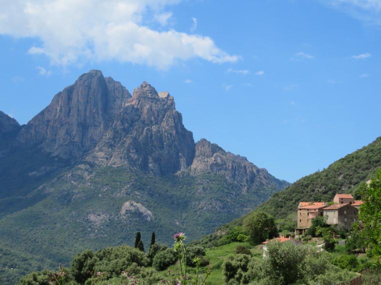 """Spelunca Gorge: Capu d""""Orta from Ota - © William Mackesy"""