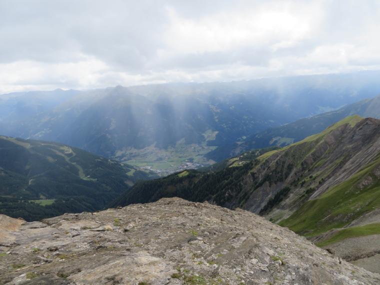 Austria Hohe Tauern, Granatspitze Ridge, rain over Matrei, Walkopedia