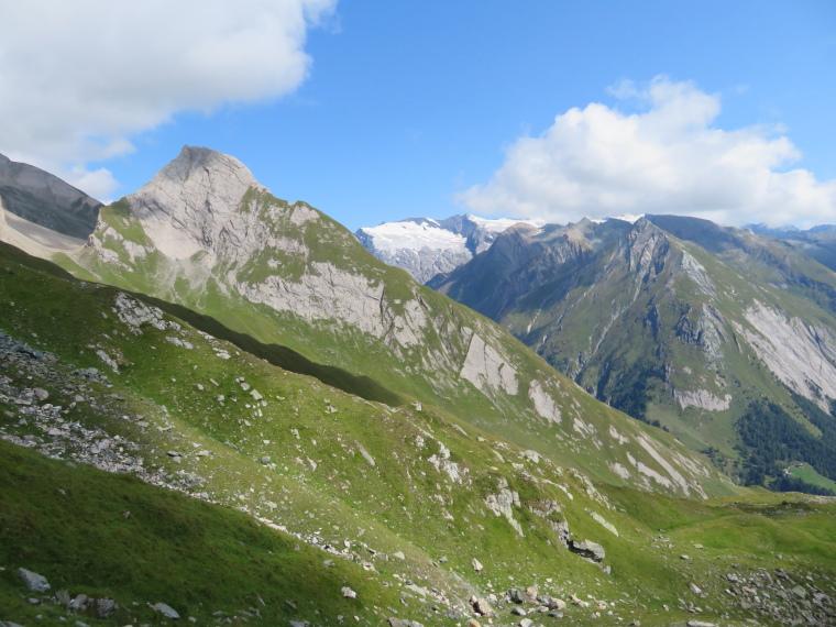 Austria Hohe Tauern, Granatspitze Ridge, Grossglockner ALMOST out of cloud, from Kals flank alternative, Walkopedia
