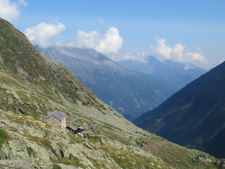 Above Nurenberger Hut; Mairspitze, Wilder Freiger: Looking north from just above Nurnberger Hut - © William Mackesy