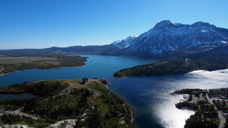 "Waterton Lakes from Bears"" Hump  - © flickr user- Wilson Hui"