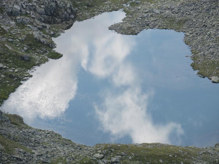 Around the Sulzenau Hut : Sky-reflecting tarn, above Sulzenau Hut - © William Mackesy