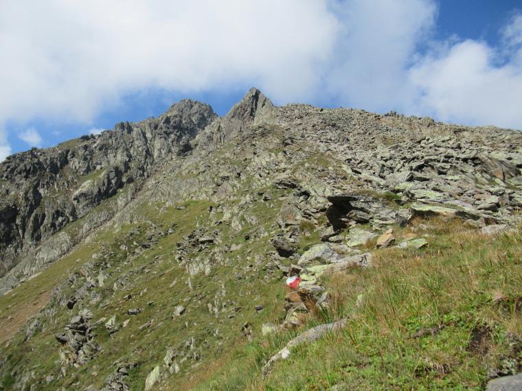 Mairspitze: Up steep lateral ridge - © Will Mackesy