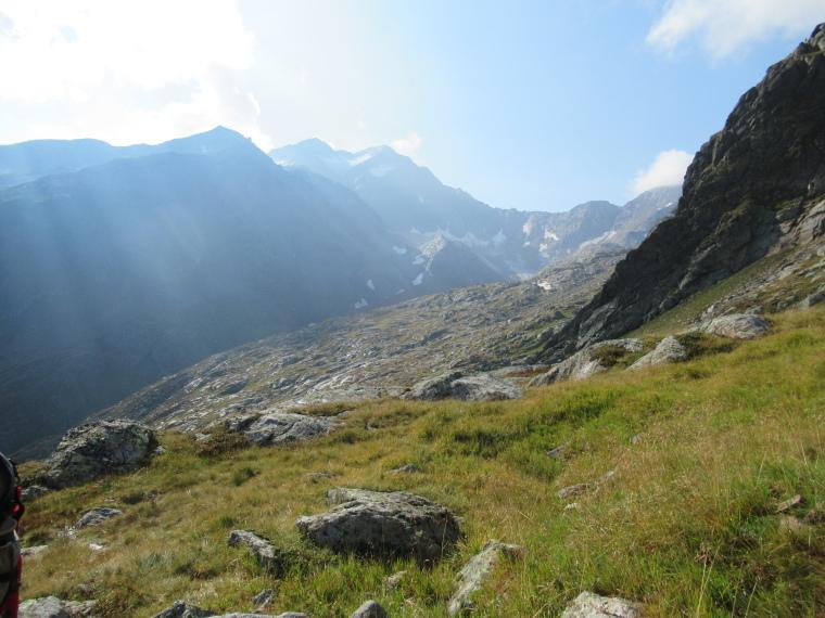 Mairspitze: Mairspitze path, looking up to border ridge, early light - © Will Mackesy