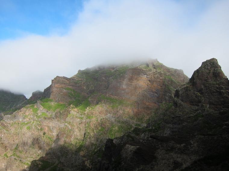 Pico Ruivo from Achado do Texeira: Ruivo from Torres flank - © William Mackesy