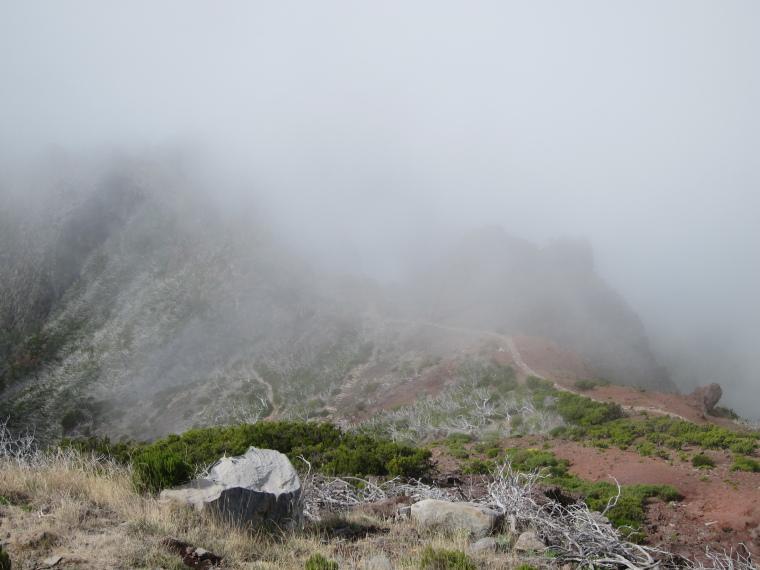 Pico Ruivo from Achado do Texeira: Ridge east of Ruivo towards Achada do Teixeira - © William Mackesy