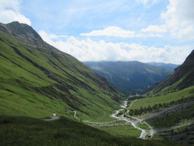 Above Kals am Grossglockner: Down Kodnitztal valley from Luckner Hut - © Geordie Mackesy