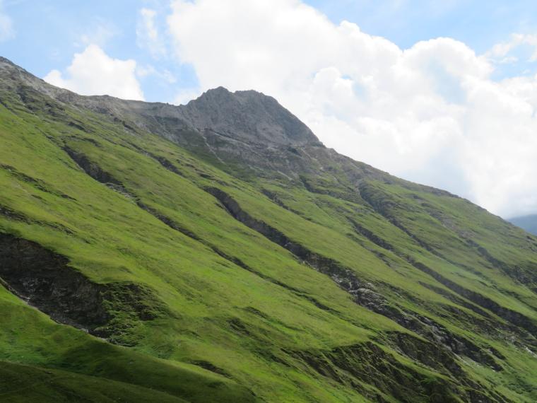 Above Kals am Grossglockner: Grassy mid eastern Kodnitztal slopes, klettersteig somewhere above - © William Mackesy