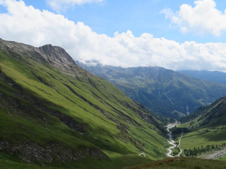 Above Kals am Grossglockner: Looking back down Kodnitztal valley from above Luckner Hut - © William Mackesy
