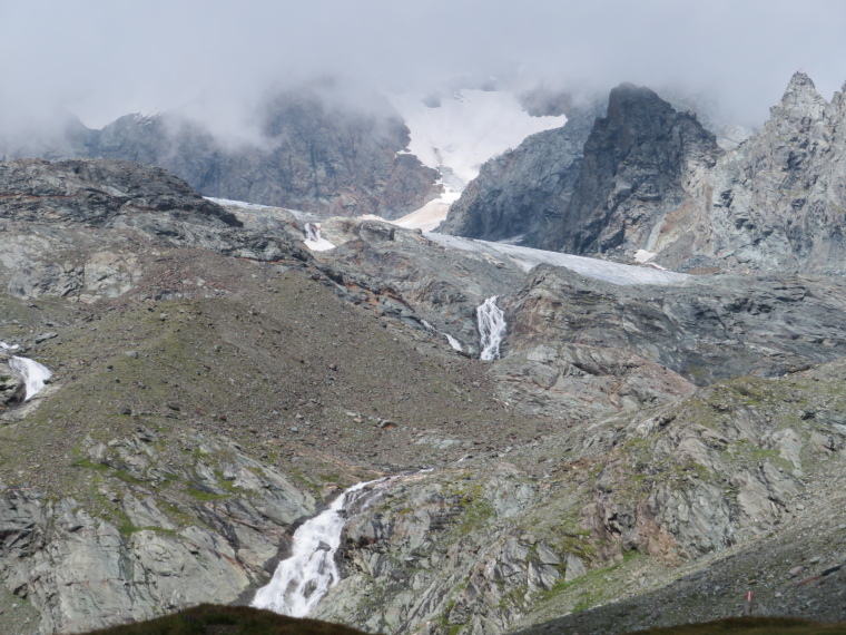 Streams coming off glacier below Grossglockner at Kodnitztal valley head - © William Mackesy