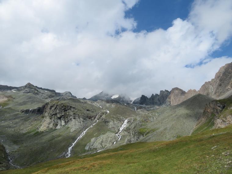 Above Kals am Grossglockner: Streams coming off glacier below Grossglockner at Kodnitztal valley head - © William Mackesy