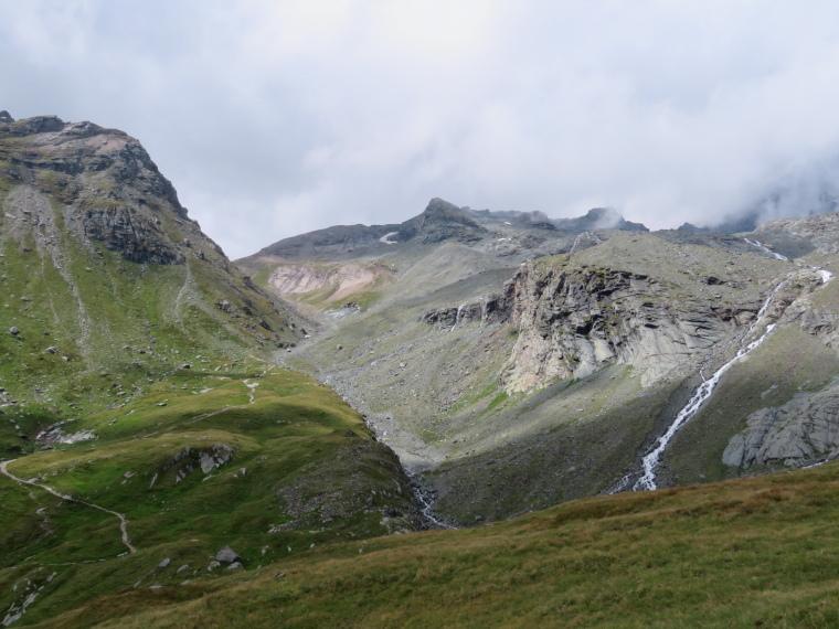 Above Kals am Grossglockner: Kodnitztal valley head, Studl hut round corner to left - © William Mackesy