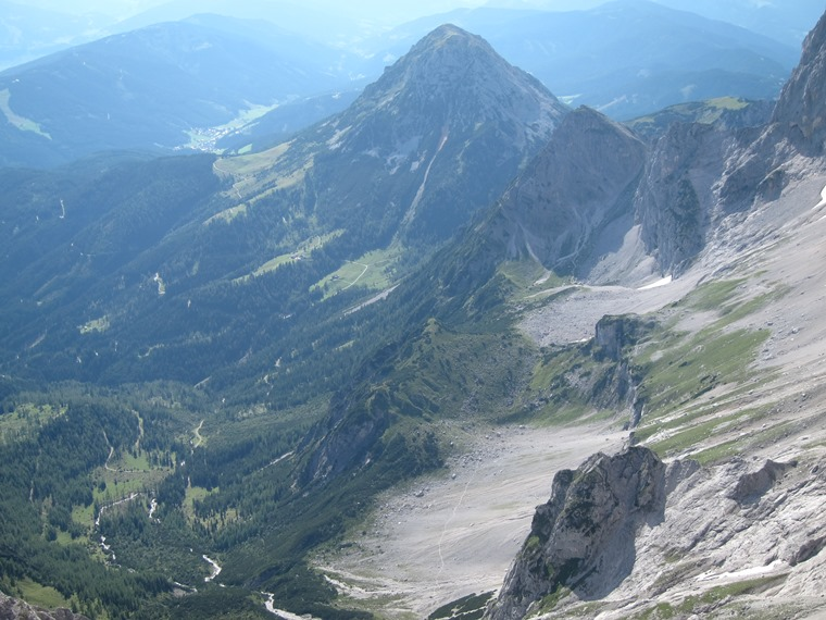 Northern Limestone Alps: Dachstein,  Rottestein and Tor pass from cable car top - © William Mackesy