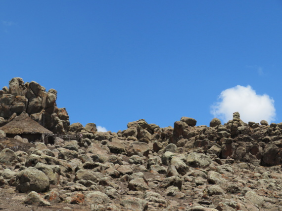 "Sanetti Plateau: Shepherds"" huts - © William Mackesy"