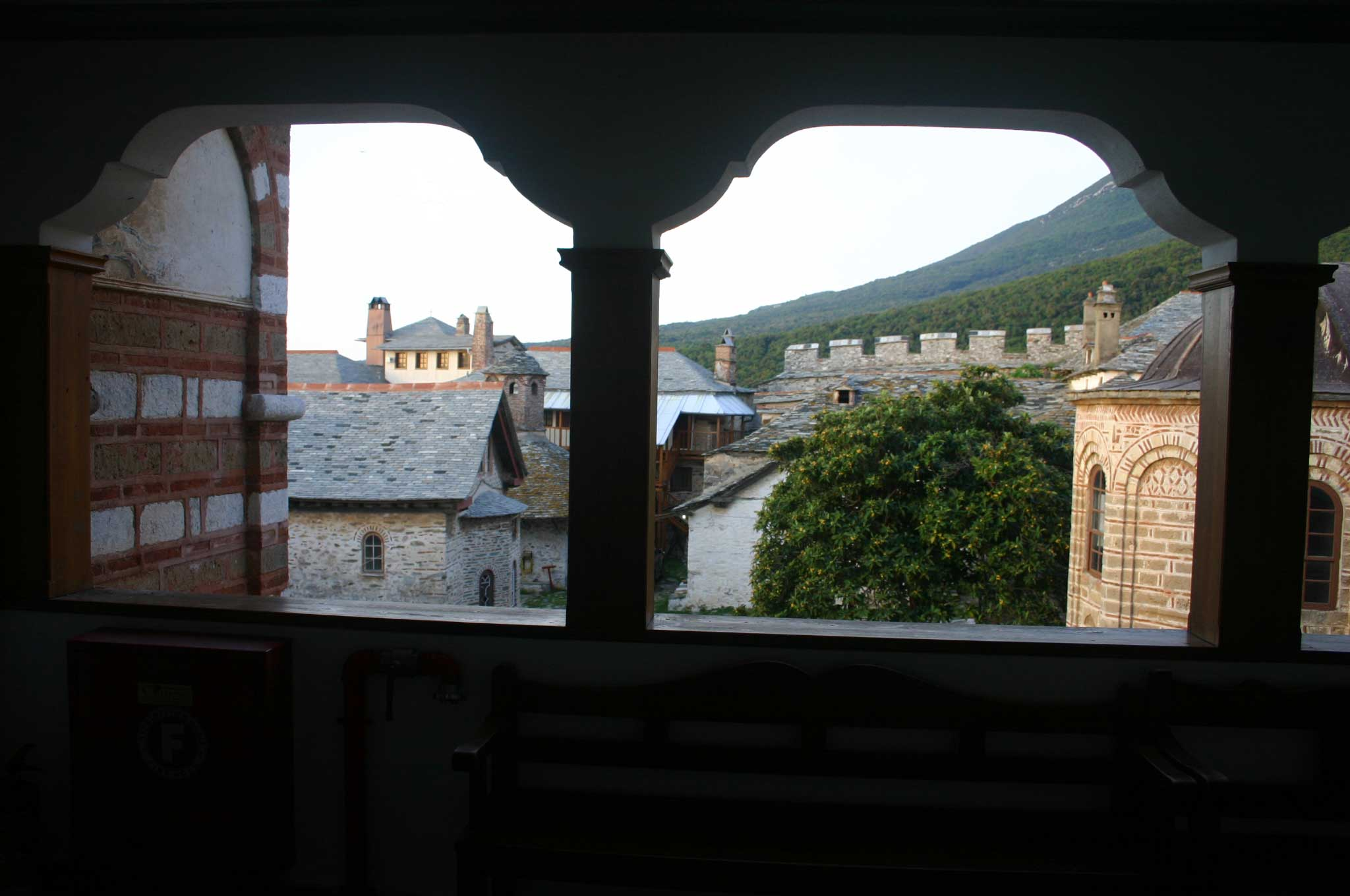 Mount Athos: Mt Athos - ? From Grand Lavra guesthouse - © William Mackesy