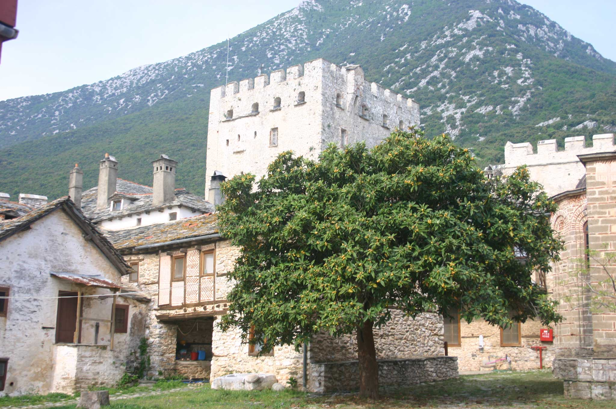 Mount Athos: Mt Athos - Grand Lavra - © William Mackesy
