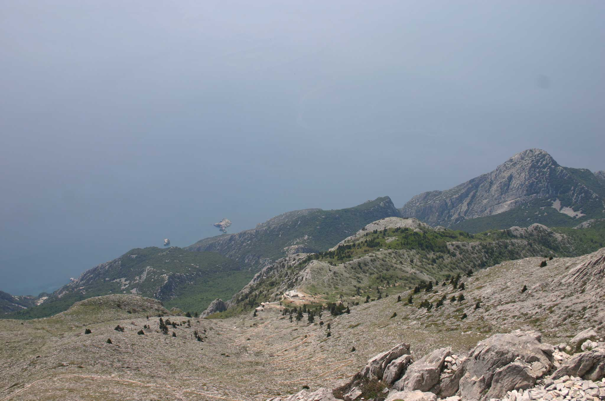Mount Athos: Mt Athos - Way Above Panaghias - © William Mackesy