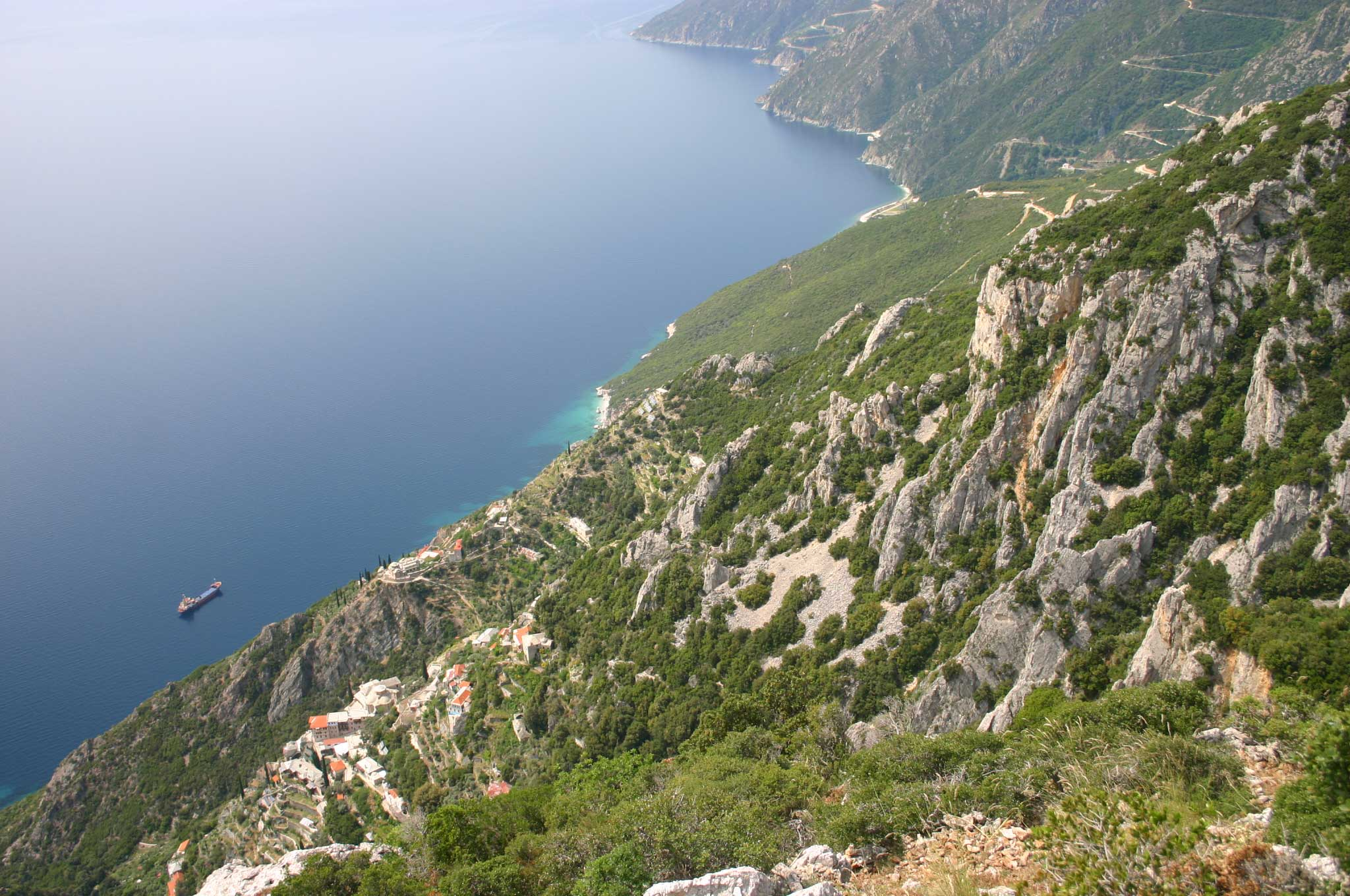 Mount Athos: Mt Athos - Above Agia Anna - © William Mackesy