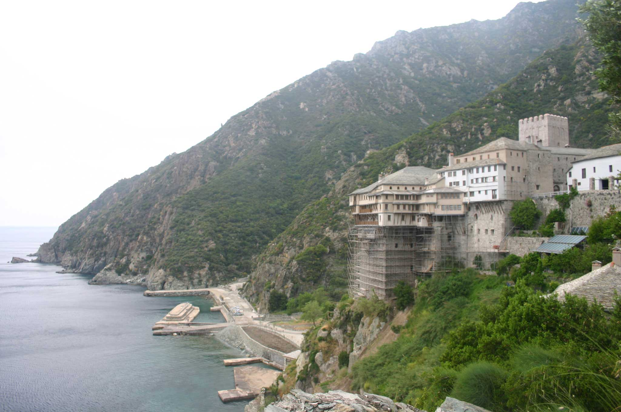 Mount Athos: Mt Athos - Dionysiou - © William Mackesy