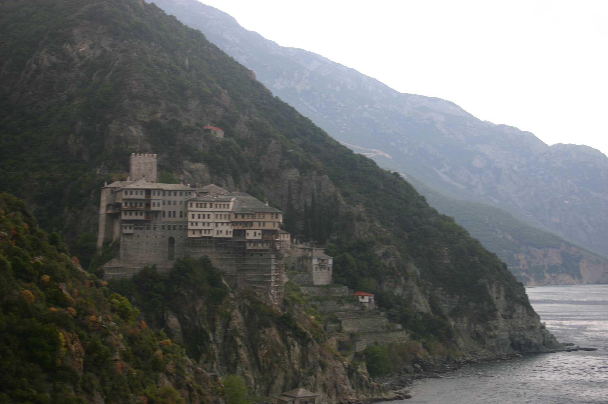 Mount Athos: Mt Athos - Back to Dionysiou - © William Mackesy