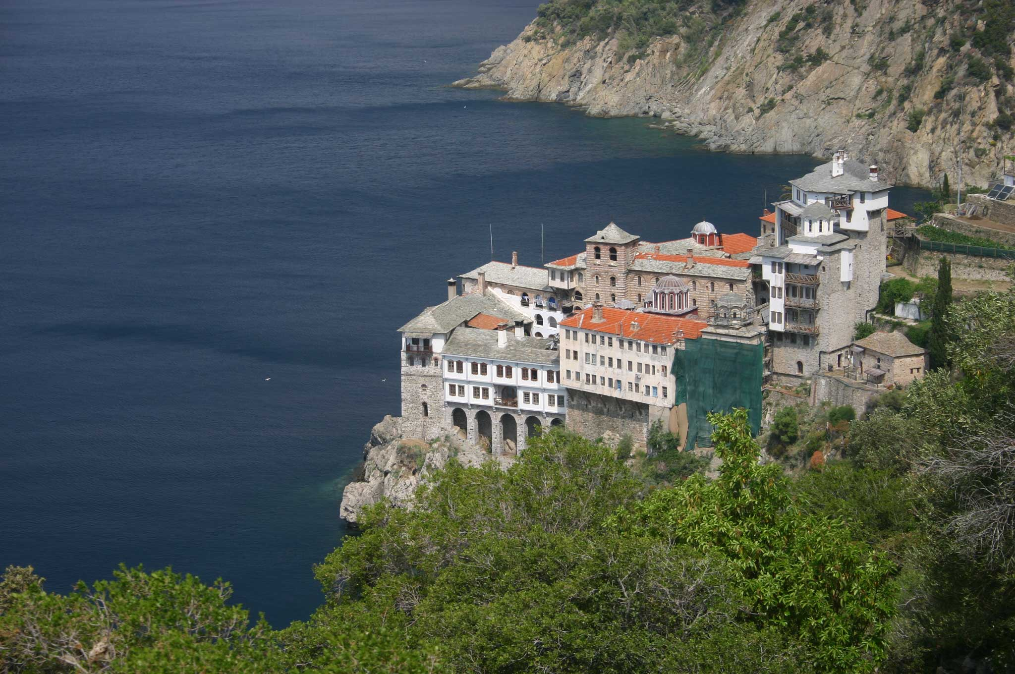 Mount Athos: Mt Athos - Grigoriou - © William Mackesy