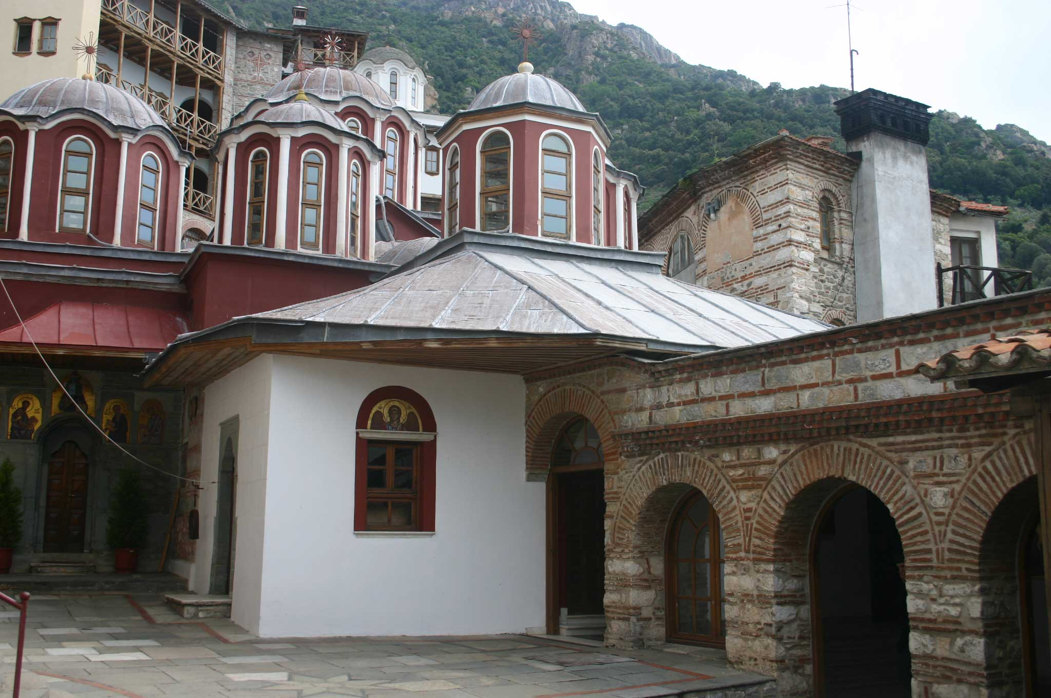 Mt Athos - Grigoriou Courtyard - © William Mackesy