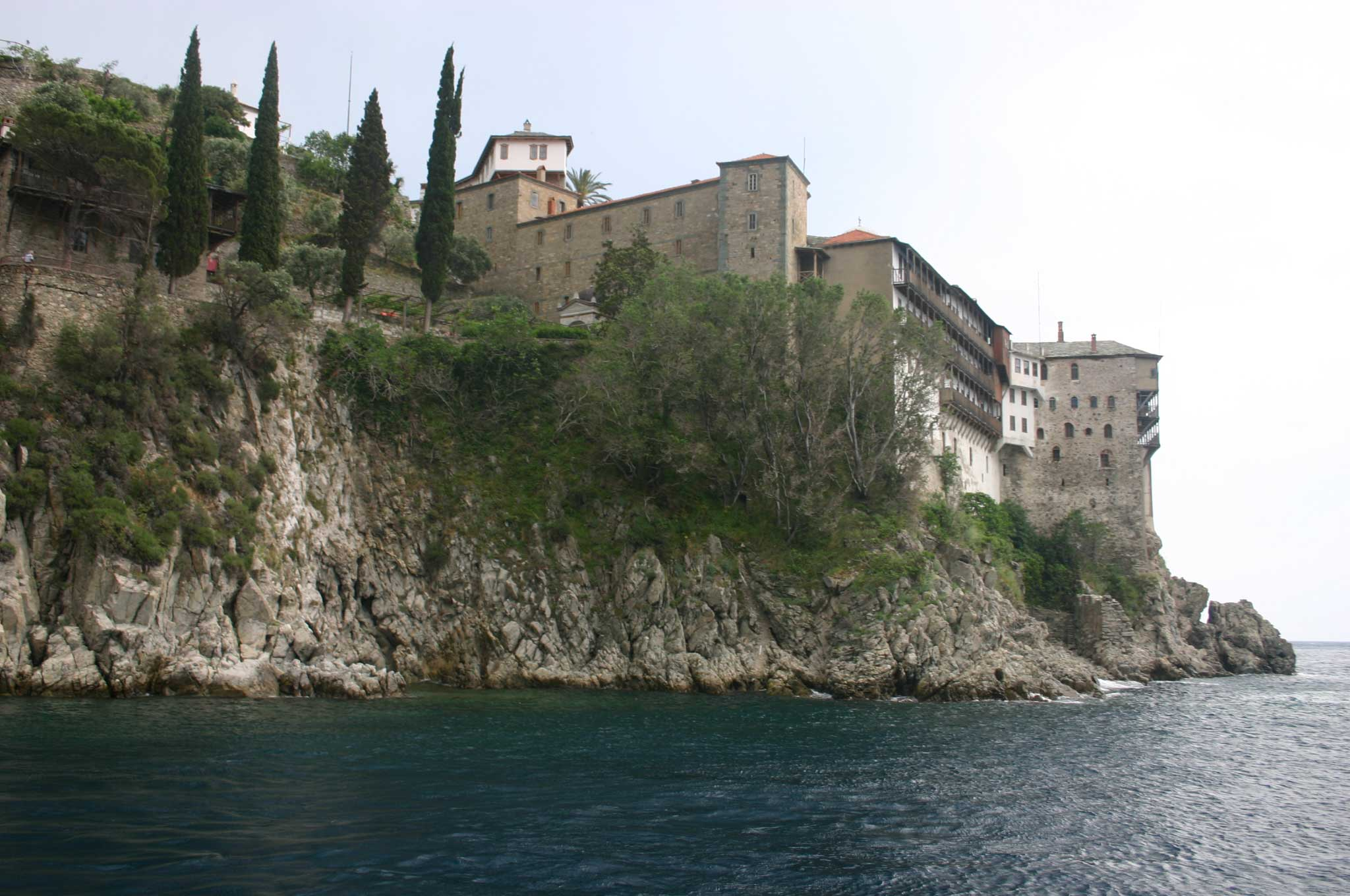 Mount Athos: Mt Athos - Grigoriou From the Sea - © William Mackesy