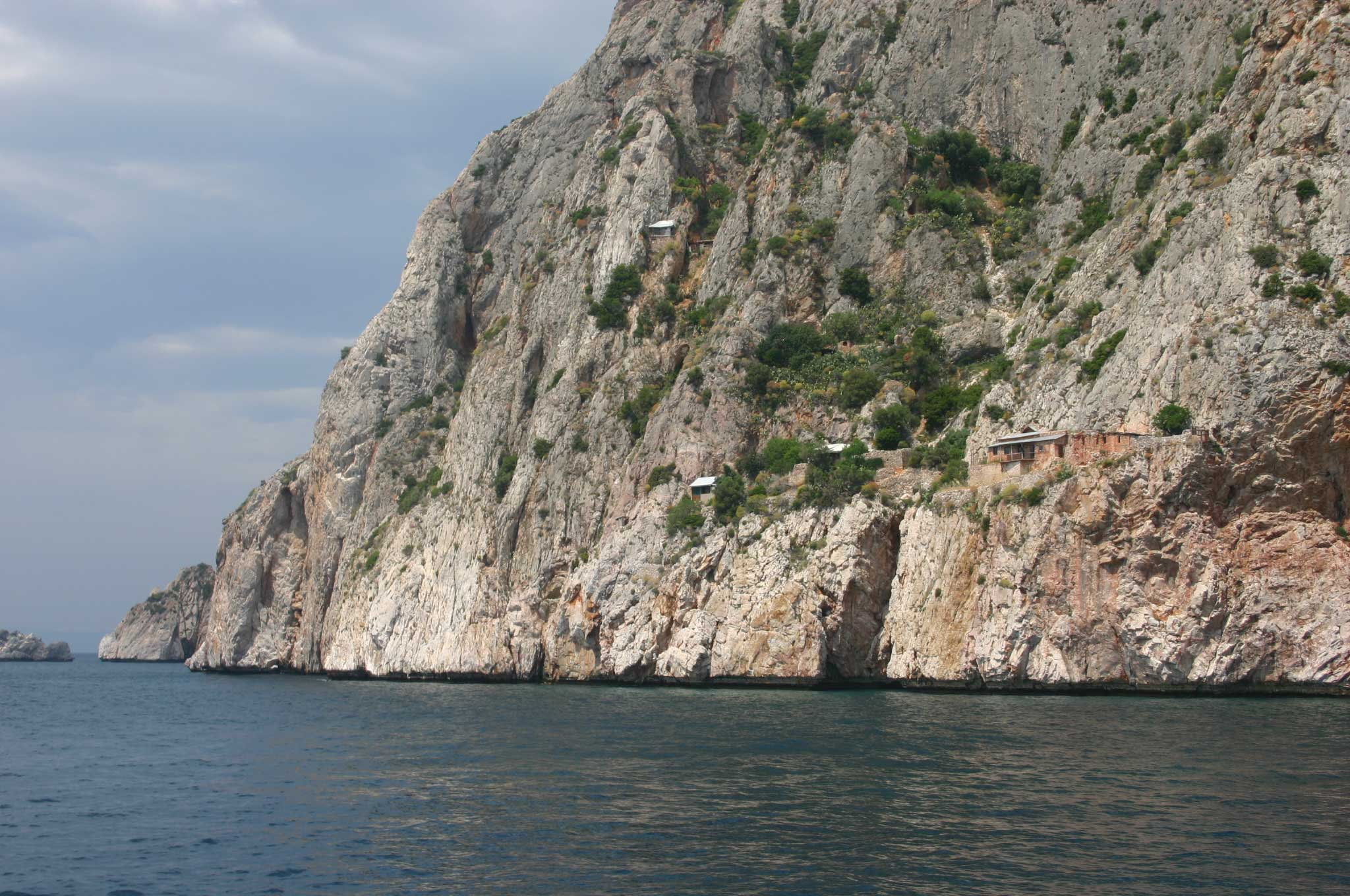 Mt Athos - South Coast From the Ferry - © William Mackesy