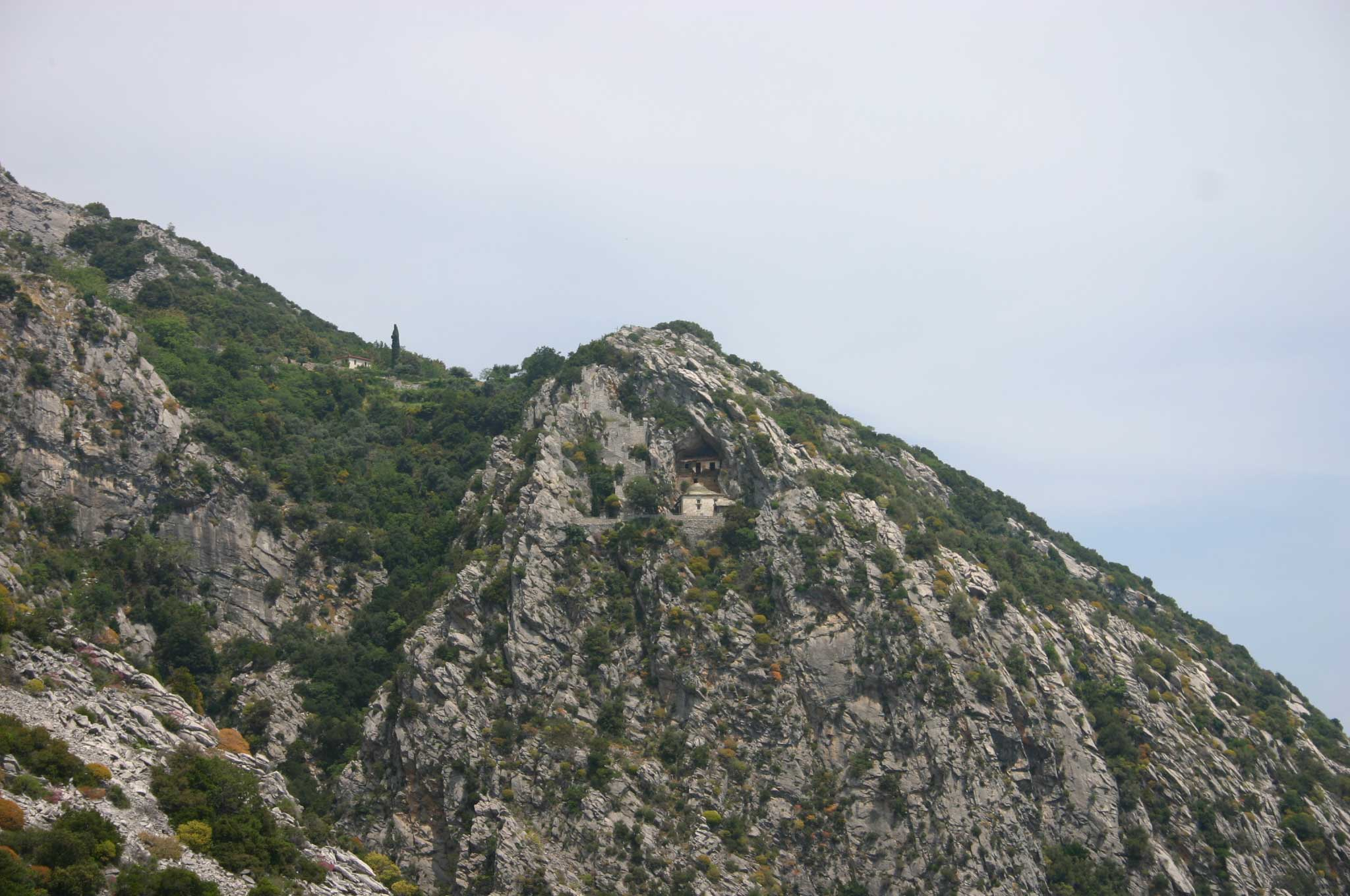 Mount Athos: Mt Athos - Cliff-face Hermitage - © William Mackesy