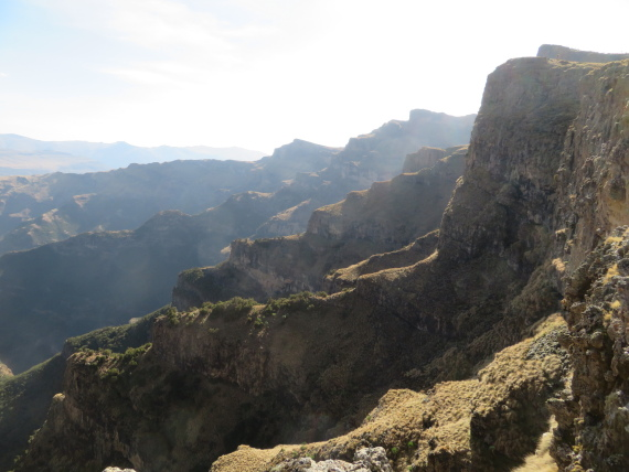 Ethiopia Simien Mts, Mt Buahit, Escarpment, early light, Walkopedia