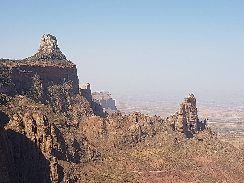 Tigray Rock Churches: View_from_the_path_to_Maryam_Korkor  - © wiki user DonCamillo