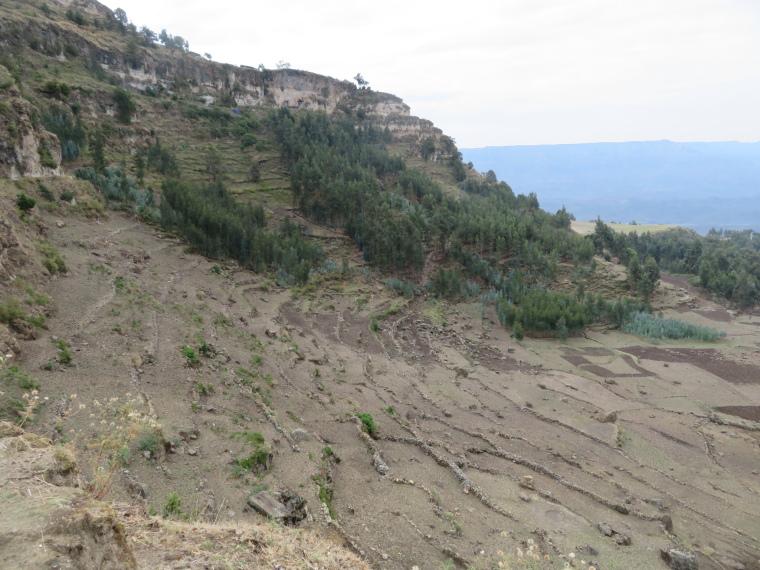 Ashetan Maryam: AM promontory and farmland below - © William Mackesy