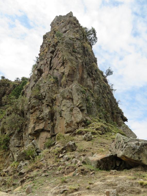 Ethiopia Lalileba Area, Ashetan Maryam, Prow of high butte from the pass, Walkopedia
