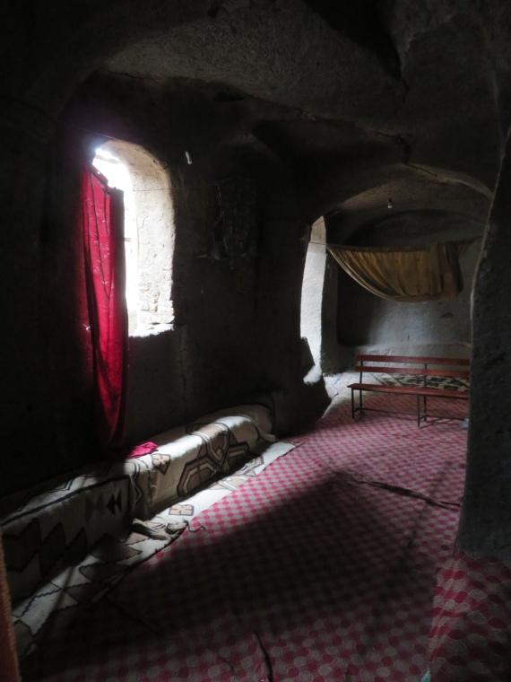 Ethiopia Lalileba Area, Around Lalileba, Ashetan Maryam, dark interior, Walkopedia