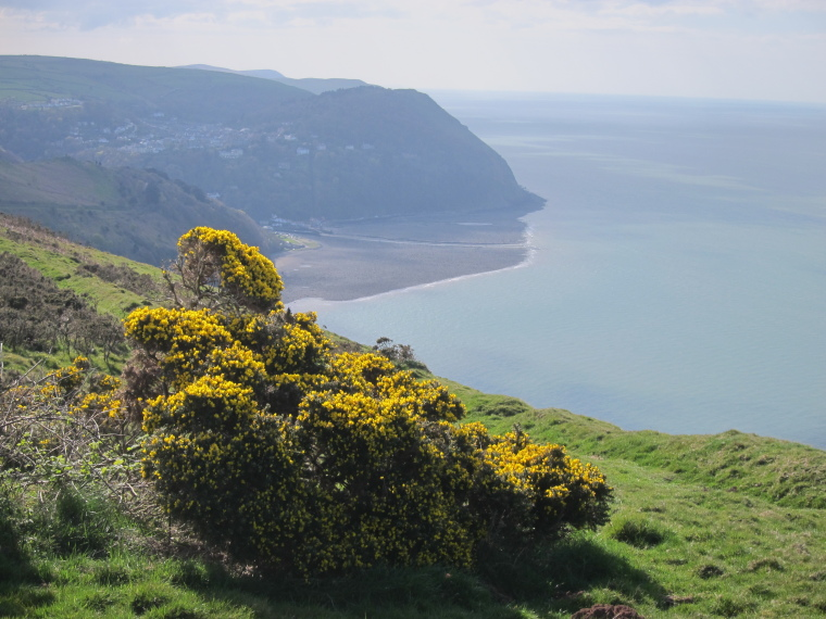 United Kingdom England South-west Exmoor, Exmoor, Looking west from Foreland Point, across Lynmouth bay, Walkopedia