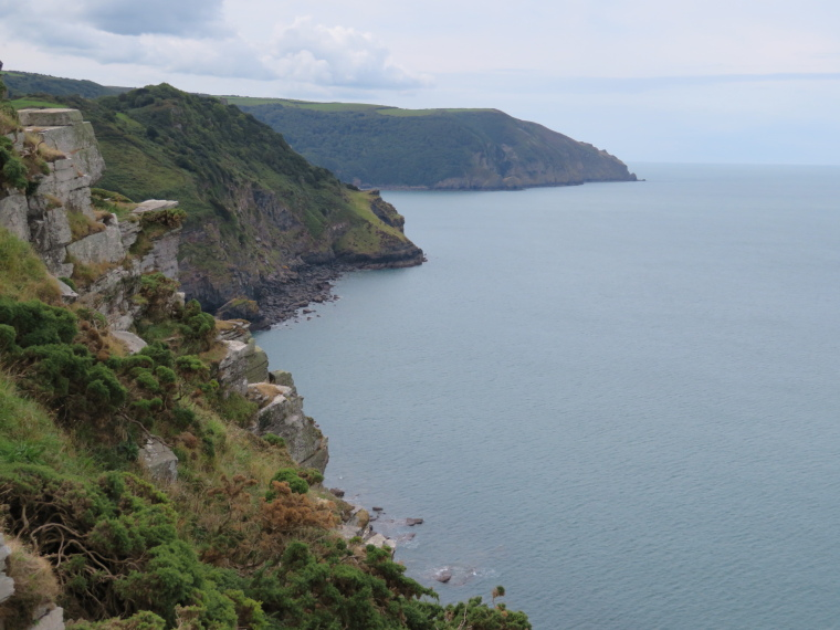 United Kingdom England South-west Exmoor, Exmoor, C Path, looking west from west of Lynton, Walkopedia
