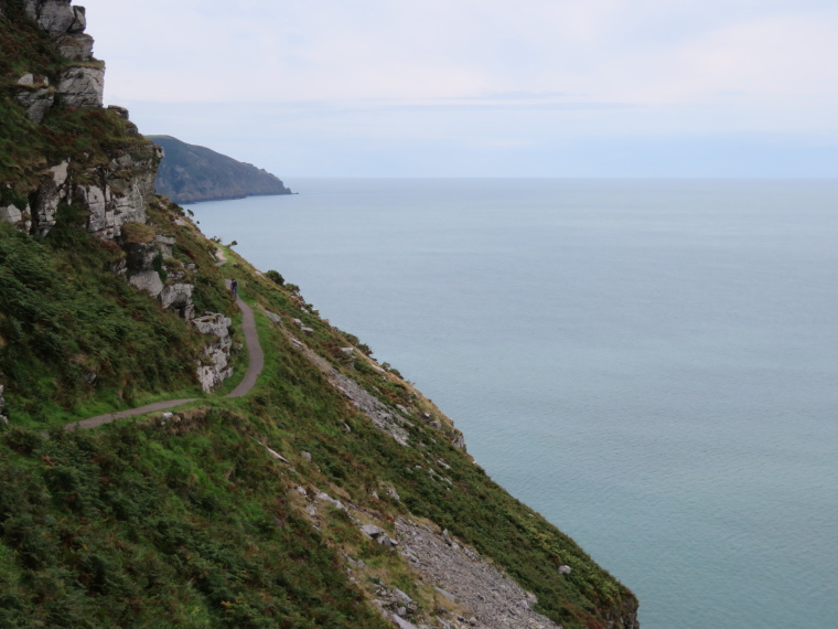 United Kingdom England South-west Exmoor, Exmoor, Tarmaced coastal path, west of Lynton, Walkopedia