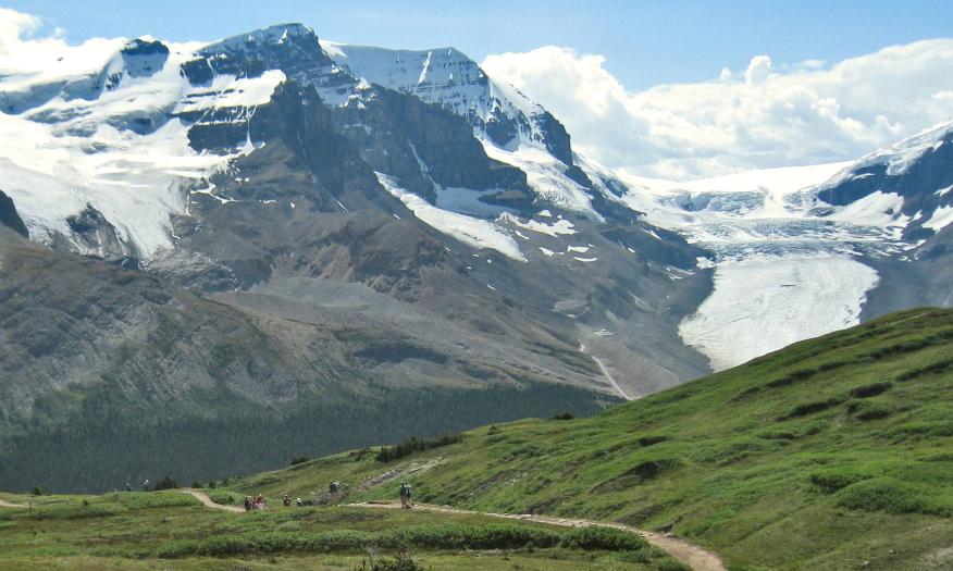 Canada Alberta: Jasper NP, Wilcox Pass, View from Wilcox Pass, Walkopedia