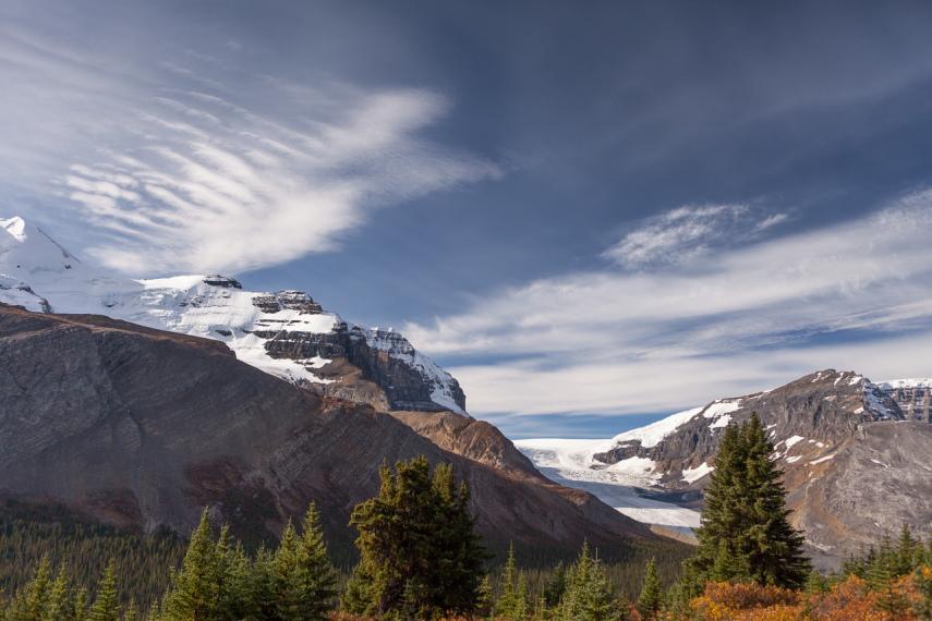 Canada Alberta: Jasper NP, Wilcox Pass, Athabasca Glacier from Wilcox Pass, Walkopedia