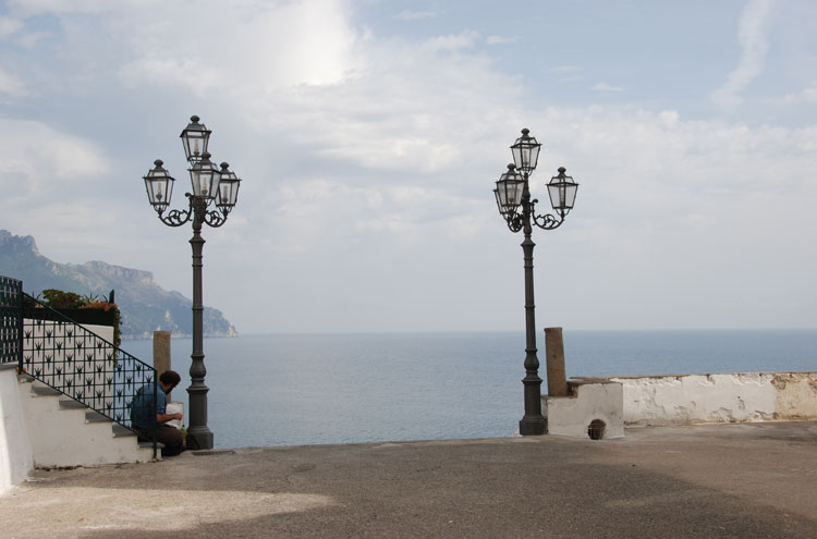Italy Amalfi Coast, Around Ravello, Atrani Belvedere, Walkopedia